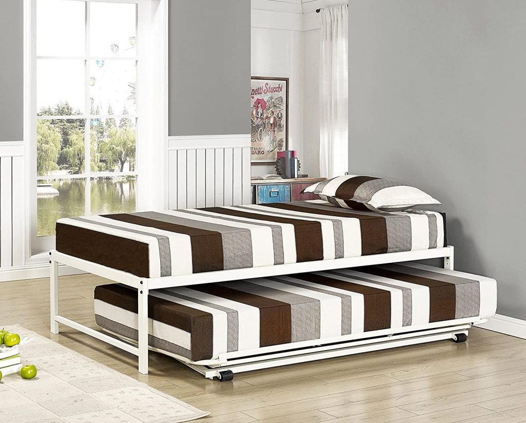 Metal Platform Bed With Pop Up Trundle